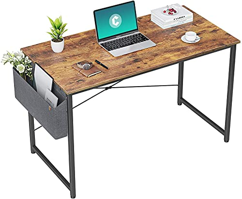 HOMIDEC Escritorio de Ordenador, Mesa de Oficina pequeño, Mesa de Ordenador con Bolsa de Almacenamiento, Fácil de Montar, Mesa de Escritura para Oficina en Casa, 100 x 60 x 75 cm(Vintage)