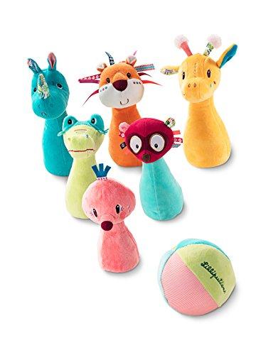 Lilliputiens 83019 Bowling Spielzeug / Kegelspiel mit Pins & Kegel aus Plüsch für Babys Kleinkinder, 7-teilig, ab 12 Monaten