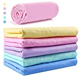 Car Wash Chamois Towel【Come with storage tube】Learja Premium Synthetic Deerskin Leather Auto Cleaning Drying Cloth (Pink, 25 x 17 inches, 1 pack, 5 available colors for you choose.)