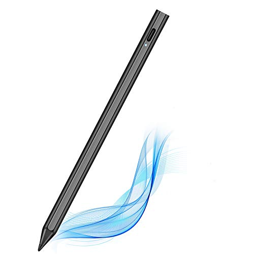 TOCLL Stylus Pen for iPad 2018-2020 with Palm Rejection, Magnetically Attached Pencil , Compatible with iPad Pro 11(1/2),iPad Pro 12.9(3/4),iPad 6/7/8th,Air 3/4th,Mini 5th, Black