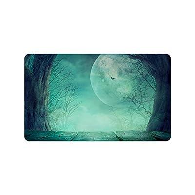 Custom Halloween (1) Paillasson Tissu non tissé et caoutchouc néoprène, 59,9cm (L) x 39,9cm (L), impression d'un seul côté