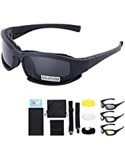 Polarized Outdoor Tactical Glasses Windproof Military 4 Lens Kit Goggles Outdoor Cycling Sunglasses