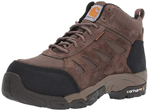 Carhartt Women's Lightweight Wtrprf Mid-Height Work Hiker Carbon Nano Safety Toe CWH4420 Industrial Boot, Brown Brushed Suede/Nylon, 8.5 M US