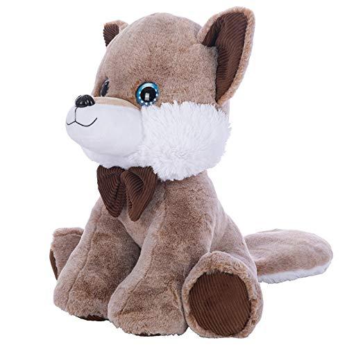 N / A 25cm Plüsch Tierpuppe Slick Fox Soft Stuffed Toys Süße Mütze Big Eye Doll Kinder Geburtstagsgeschenk 25cm