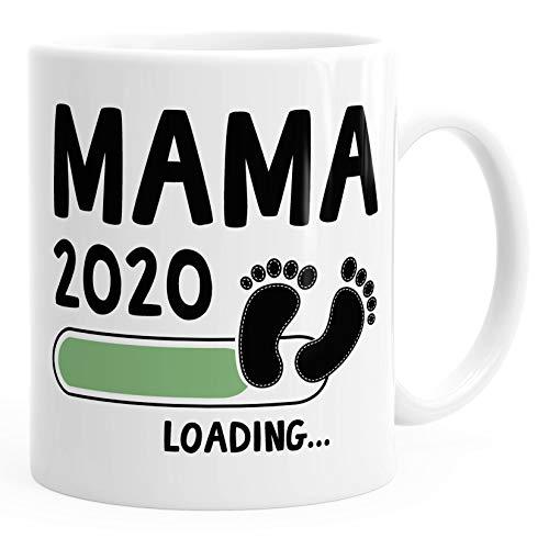 Kaffee-Tasse Mama 2020 loading Geschenk-Tasse für werdende Mama Schwangerschaft Geburt Baby MoonWorks® weiß unisize