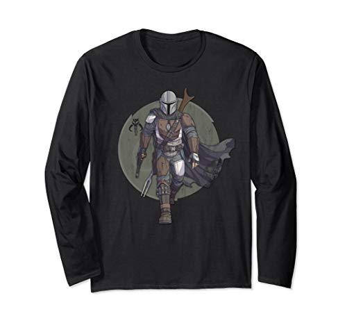 Star Wars The Mandalorian Hero Pose Langarmshirt