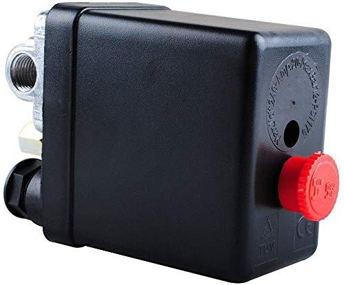 Regulador del Compresor de Aire Neumático Central Poweka Válvula de Control Interruptor de Presión 90-120 PSI 240V