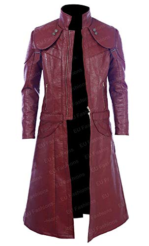 EU Fashions DMC Devil May Cry 5 Dante Cosplay Kostüm roter Mantel Gr. Medium, Real Leather