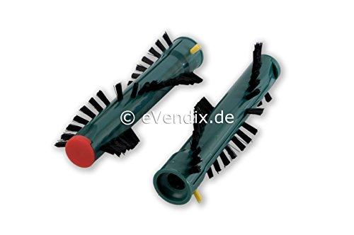 eVendix 1 Paar Premium Ersatzbürsten/Bürsten/Rundbürsten/Bürstenrollen geeignet für Vorwerk EB 360, 370 / EB360, EB370