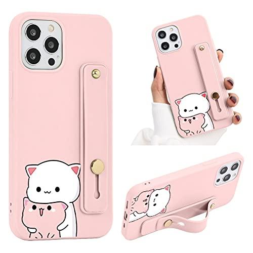 ZhuoFan Funda para Xiaomi Redmi Note 9 Pro 4G / 9S Dibujos Rosa Silicona Cárcasa con Soporte Diseño Suave TPU Antigolpes de Protectora [Moda y Practico] Case Fundas para Redmi Note 9S / 9 Pro,