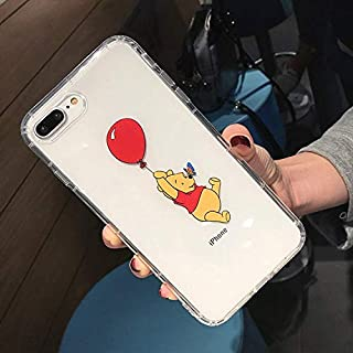 Maxlight Cute Piglet Winnie Bear Pooh Case for iPhone 8 X 7 Plus XR XS MAX Cover for iPhone 7 Cartoon Shockproof Soft TPU Back Case (Style2, for iPhone XR)
