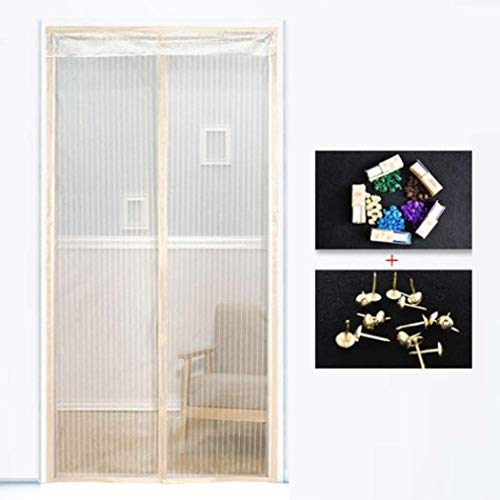 ZEFENG Summer Ventilation Soft Curtain Frame Anti-Mosquito Velcro Encryption Strong Grid Screen Door Home Kitchen Bedroom Silent Velcro Safety Convenience Magnetic Screen Door Magnetic Curtain,O_1802