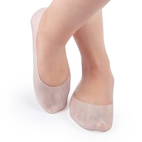 Ultnice, calzini da donna, comodi, traspiranti, idratanti, antiscivolo, in gel di silicone con olio essenziale della pianta, per esfoliare la pelle e