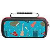 Musical Instruments Travel Carrying Case Game Bag for Nintendo Switch Console Accessories Holds 20 Game Card Bag