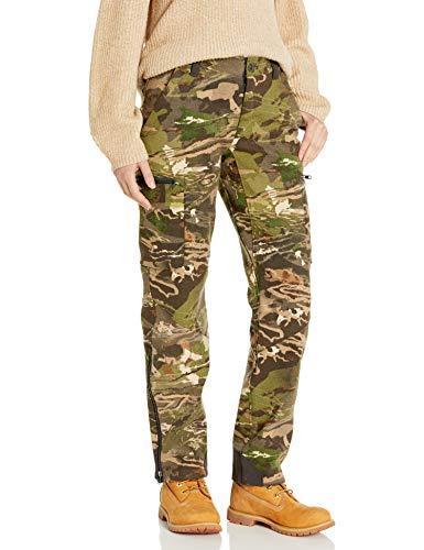 Under Armour Women's Core Wool Pants,Ridge Reaper Camo Fo (943)/Metallic Beige, 2