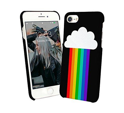 Rainbow Colorfull Clouds Happy Joyfull Colours LGBT Everybody Unicorns Pride iPhone 6 7 8 X Galaxy Note 8 Huawei Custodia Protettiva Hard Plastic Cover Case