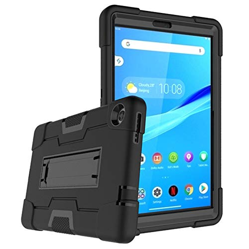 Mignova Funda híbrida de tres capas para Lenovo Tab M8 de 8.0 pulgadas, a prueba de golpes, de cuerpo entero, con soporte para Lenovo Tab M8/M8 Smart Tab de 8.0 pulgadas (negro/negro)