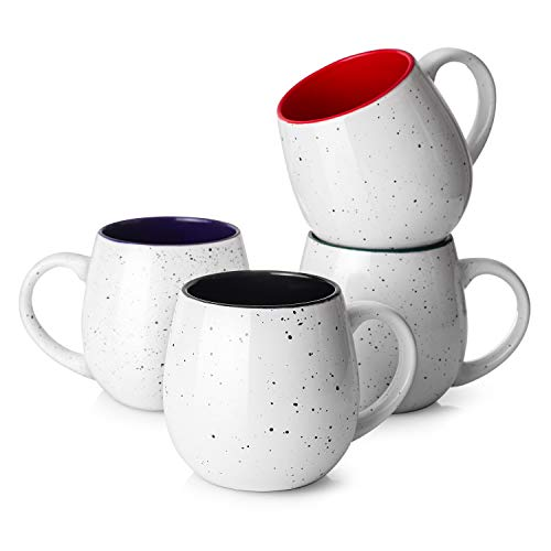 LIFVER 20 Ounces Coffee Mugs, Large Porcelain Mug Sets for Coffee, Tea, Cocoa, Housewarming Gift,...