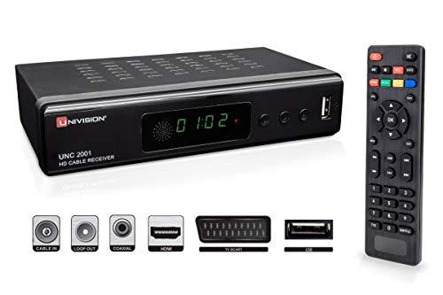 Full HD digitaler Kabel Receiver DVB-C / C2 mit Aufnahmefunktion PVR und Timeshift für alle Kabel-Anbieter mit HDMI | SCART | USB | Auto- Installation | Mediaplayer | 1080p | MKV