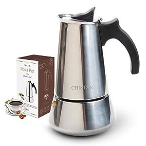 Hünkar Cafetera Eléctrica Turca de Acero Inoxidable para 1-5 Tazas Cafetera Espresso Moka Cafetera Espresso Cezve Cocina de Café: Amazon.es: Hogar