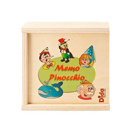 Dida – Mémo Fable Pinocchio 20 pièces – Jeux Memory pour Enfant en Bois