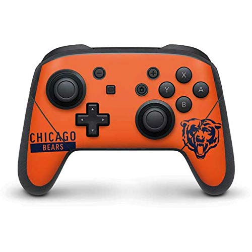 Skinit Decal Gaming Skin Compatible with Nintendo Switch Pro Controller - Officially Licensed NFL Chicago Bears Orange Performance Series Design