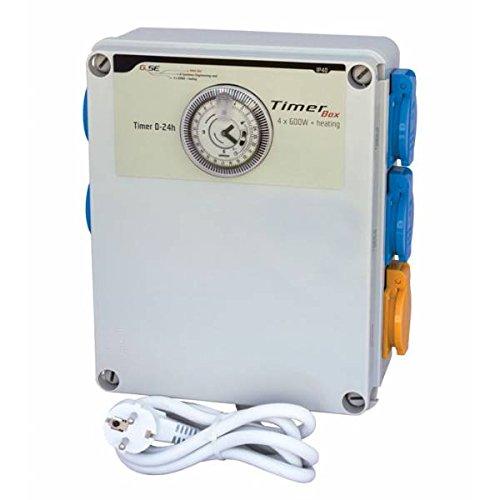 GSE Tableau électrique avec minuteur Box II 4 x 600 W + chauffage