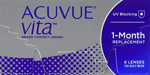 ACUVUE Vita Monatskontaktlinsen mit maximalem Tragekomfürt – Den ganzen Monat lang – -2,75 dpt & BC 8.4 – Mit UV Schutz & durchgängig hohem Feuchtigkeitsgehalt – 6 Linsen