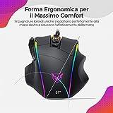 Zoom IMG-1 pictek mouse gaming rgb ergonomico