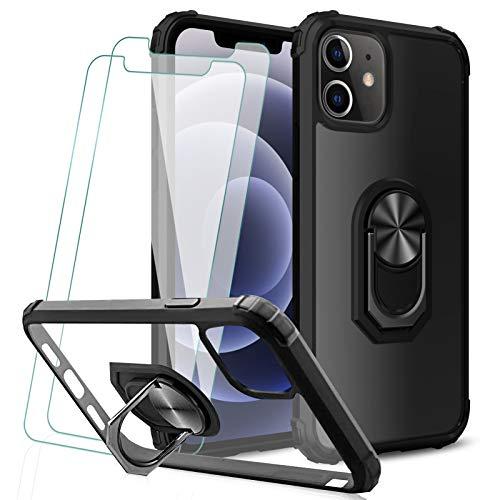 KEEPXYZ Funda iPhone 12/12 Pro + 2 Pcs Protector de Pantalla Cristal...