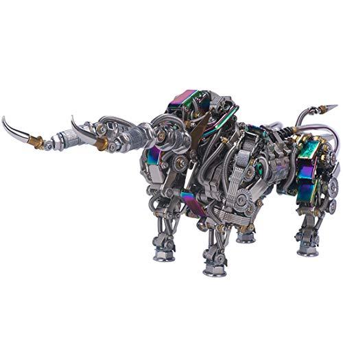 WEERUN 1087 Pezzi Puzzle 3D Metallo, Costruzioni Puzzle 3D Toro Modello 3D Puzzle Metal 3D Costruzione Metallo Meccanico Puzzle DIY Assembly Kit per B