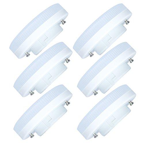 6 Pack GX53 LED Ampoule 7W-600LM Ampoule Lampe Blanc Chaud 3000K 27 SMD 2835LEDs Faible Consommation Lampe LED AC220-240V