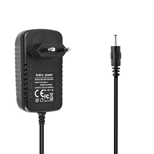 Aukru 12V 2A Alimentatore Caricatore Adattatore per Acer Iconia Tab A101 A210 A220 A500 A501 PSA18R Tab W3-810 A500 Packard Bell Liberty Tablet G100