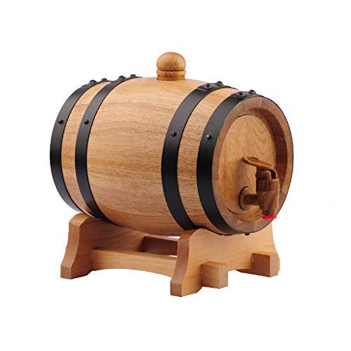 Barriles De Vino De Roble De 0,75L, Barriles De Vino Tinto Elaborados En Casa, Barriles De Fermentación Sin Vesícula Biliar, Contenedor De Vino Y Decoración De Armario De Vino(Color:Color de madera)