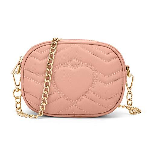 Wind Took bolsos bandolera mujer bolsos mujer bandolera bolso de hombro bolso de moda impermeable bolso de fiesta pequeño bolso de mensajero de cadena rosa
