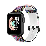 Kompatibel mit Xiaomi Mi Watch Lite und Kompatibel mit Redmi Watch Armband, Sport Ersatzarmband Silikon Atmungsaktiv Uhrenarmbänder Universal Printing Uhrenarmband (C)