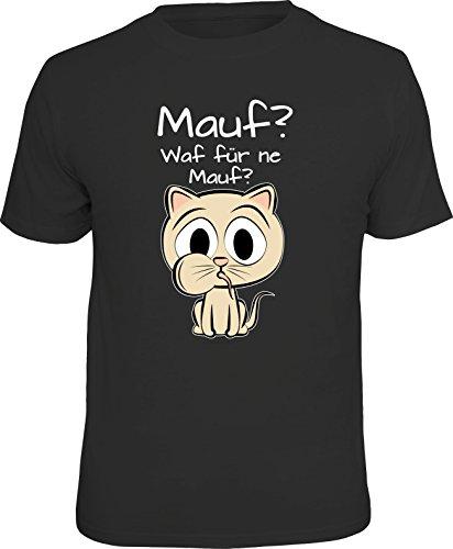 RAHMENLOS Original Geschenk T-Shirt für den Katzen-Liebhaber: Mauf, welche Mauf? XL, Nr.1663