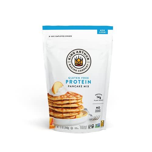 King Arthur Flour Gluten Free Protein Pancake Mix, Non-GMO Project Verified, No Sugar Added, Non-Dairy, 12 Oz