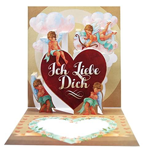 UNIQARD® 3D karta miłosna – karta 3D – niezwykłe kartki z życzeniami na Walentynki – pomysł na prezent, idealna na bony i prezenty pieniężne – dla dzieci i dorosłych miłość/Walentynki