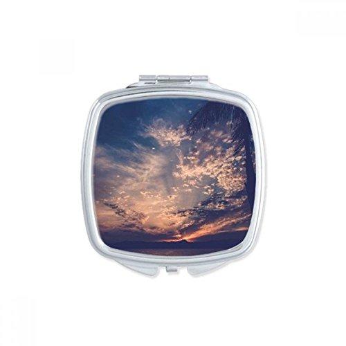 DIYthinker Big Ben Bleu Sky Blanc Nuages Place Makeup Compact Miroir de Poche Miroirs Mignon Petit Cadeau Portable à la Main Multicolor