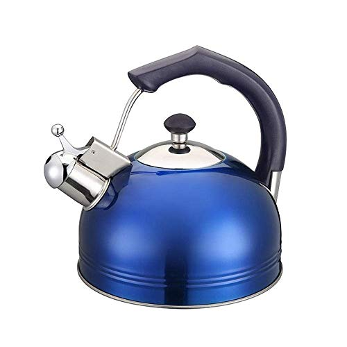 woyaochudan Hervidor con Silbato 3 litros de Agua INOX Hervidor con tintineo 3L Jarra de Comedor Espesa Cocina de inducción Café Té