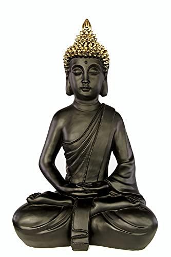 ROOMind Figura decorativa de Buda, decoración oriental para salón, baño y jardín,...