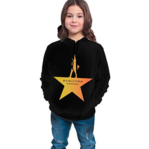 maichengxuan Musicals Hamilton Teen's, Boy's, Girl's, Kids, Unisex 3D Printed Hoodie, Sweatshirts, Pullover Hooded Black
