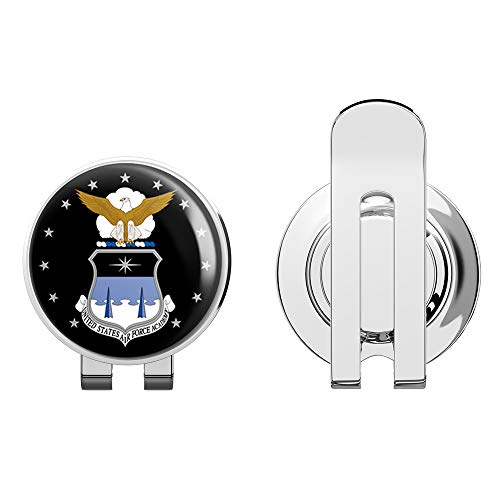 US Air Force Academy Circle Military Veteran USA Pride Served Golf Hat Clip with Magnetic Ball Marker