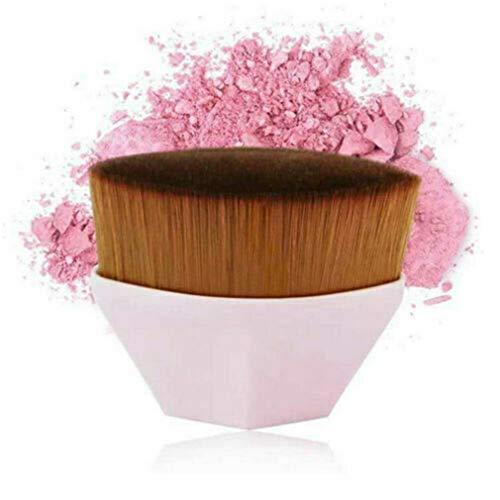 2 PCS Make-up Brush Sets Haute Densité Flawless Wand Foundation Brush BB Cream Makeup Brushes Loose Powder (Rose)