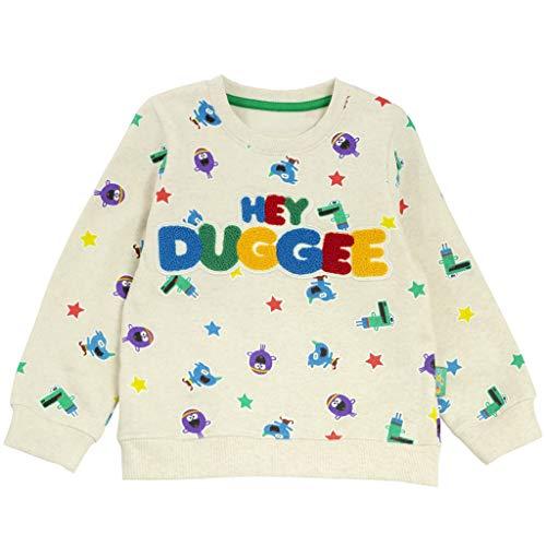 Popgear Hey Duggee Stars Baby Girls Crewneck Sweatshirt Cream Sudadera, 18-24 Months para Bebés
