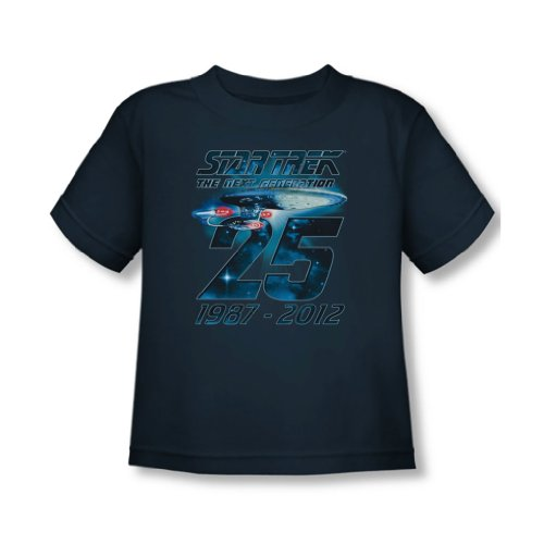 Star Trek - - Toddler Enterprise T-shirt 25 dans la marine, 2T, Navy