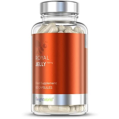 Royal Jelly Capsules - 750mg - Natural Immune System Support Supplement, Relief from Illness, Hair, Fertility in Women, Vitamin & Mineral Enriched Vegetarian Formula for Men & Women - 60 Tablets
