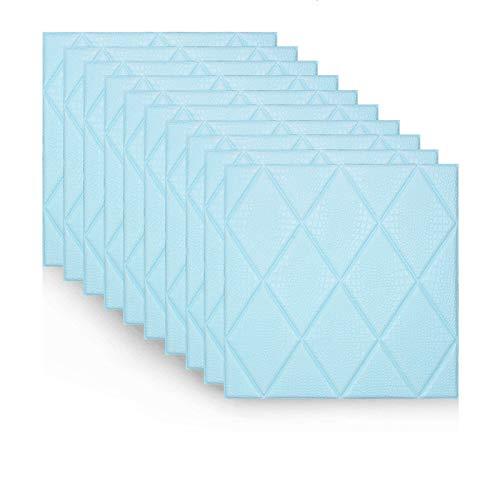 Carta da parati del soggiorno, mobili da Cucina Autoadesivo Wall Sticker per Guardaroba Carta da Parati Rimovibile per Armadio da Cucina,10pcs(blue70x70cm)