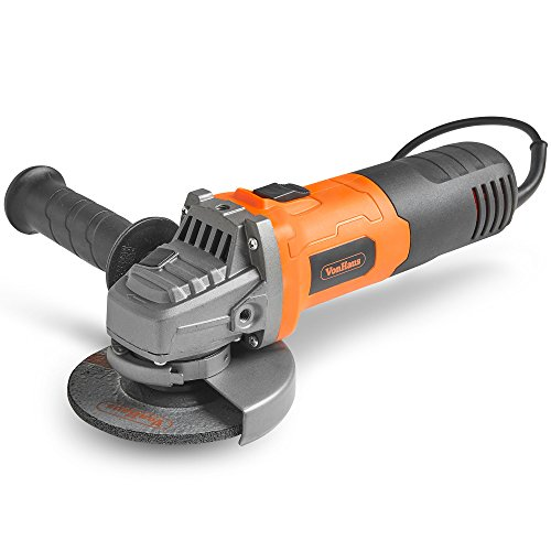VonHaus 750W Angle Grinder with 115mm Grinding Disc, Side Handle, Protection Switch, Safety Guard &...
